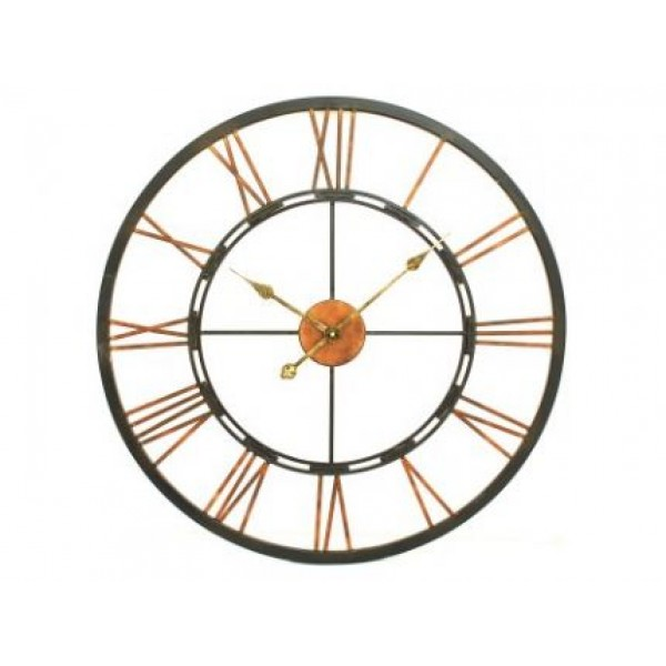 Metal Skeletal Wall Clock Large