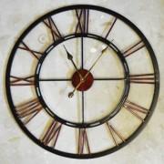 Metal Skeletal Wall Clock Large