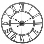 Vistini Outdoor Wall Clock - Grey