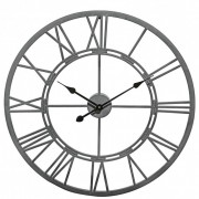 Vistini Outdoor Wall Clock - Grey