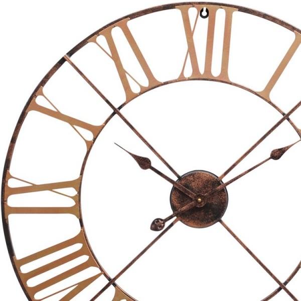 Antique Brass Outdoor Skeletal Wall Clock