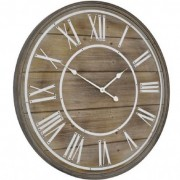 Bleached Wooden Wall Clock