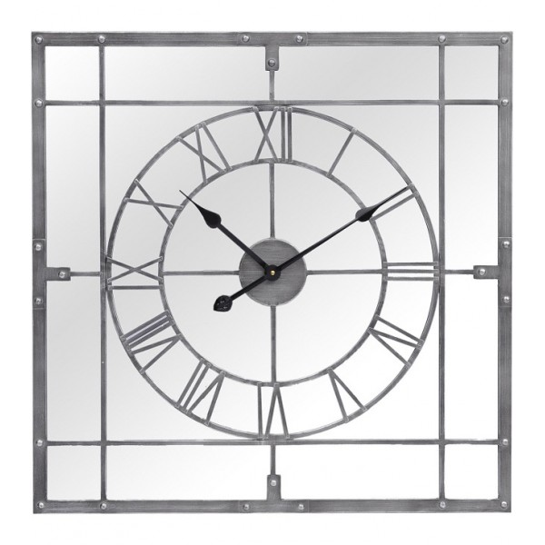 Grey Framed Mirrored Wall Clock Yorkshire Uk United