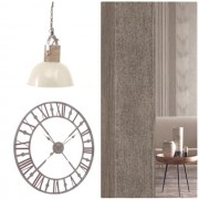 Antique Grey Skeleton Wall Clock