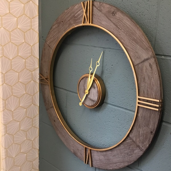 Grey Floating Wall Clock