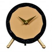 Taunton Black and Gold Metal Mantel Clock