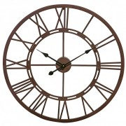 Vistini Outdoor Clock – Distressed Brown