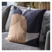 Abstract Cushion Camel Black