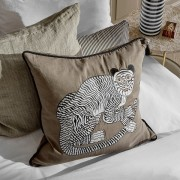 Fable Tiger Cushion - Taupe