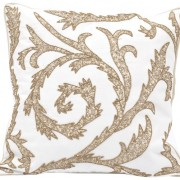 Artemis Embroidered Square Cushion with Filler