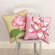 Cushion-Embroidered Hydrangea