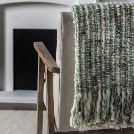 Space Dyed Throw Sage