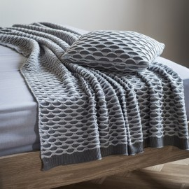 Knitted Grey Throw