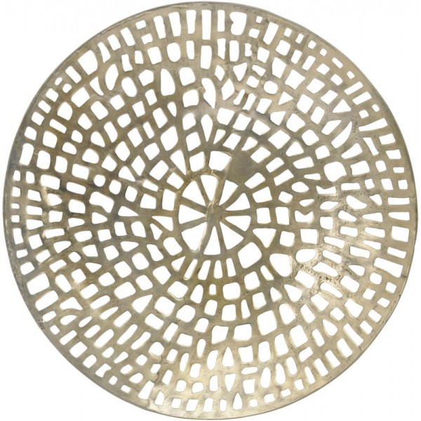 Gold Coral Cage Textured Round Wall Plaque