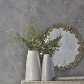 Antique Gold Floral Iron Mirror