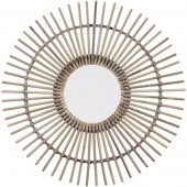 Rattan Spoke  Mirror - Small