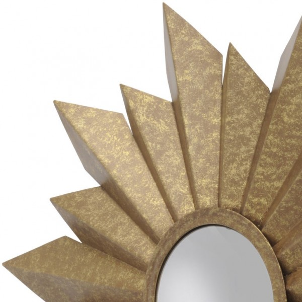 Star Antique Gold Coloured Metal Mirror