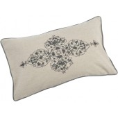 Augustine Large Rectangular Embellished Cotton Cushion