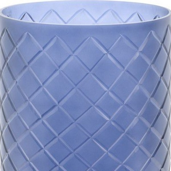 Beaufort Blue Hurricane Cut Glass Cylinder - Large