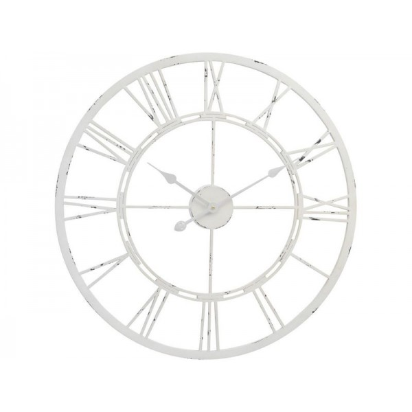 Antique White skeleton Wall Clock