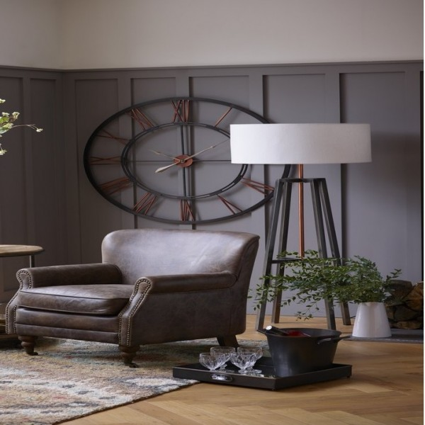 Oversized Metal Skeletal Wall Clock