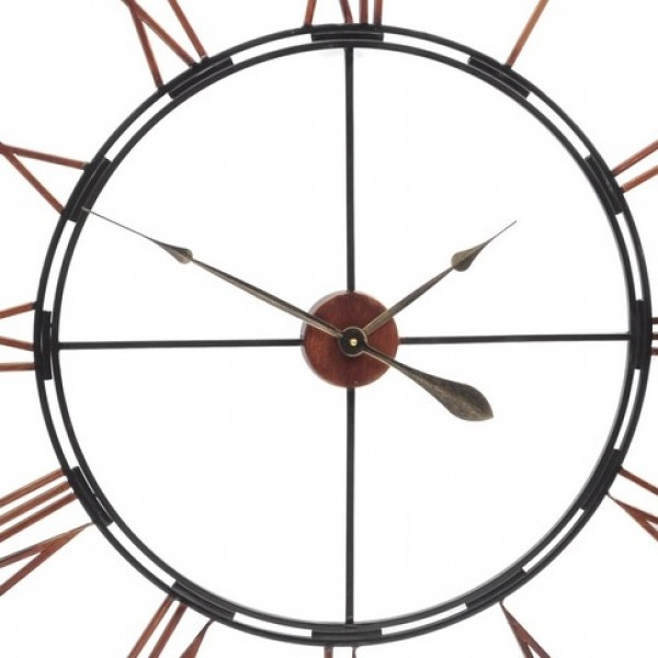 Oversized metal skeletal wall clock yorkshire uk united Oversized metal wall clocks