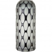 Grey and Black Tall Glass Vase