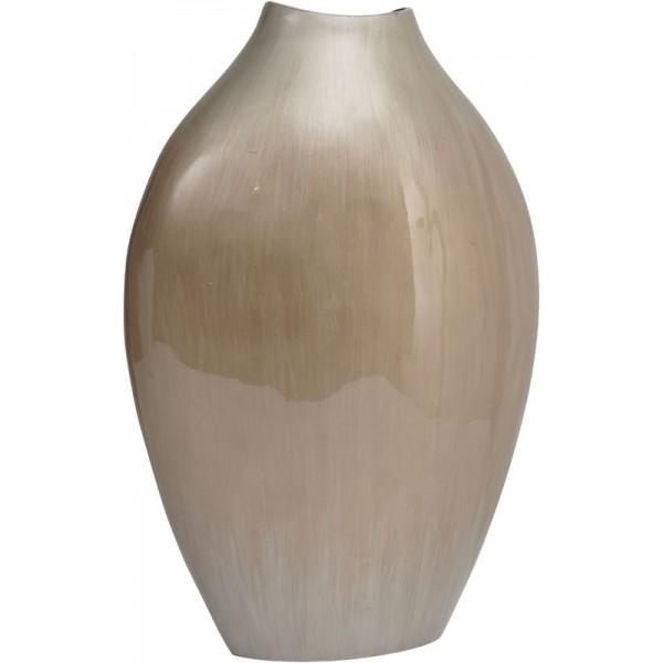 Mink Aluminium Silk Barrel Vase