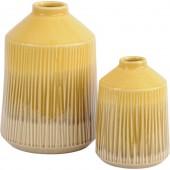 Yellow Stoneware Bottle Glazed Vase - Large