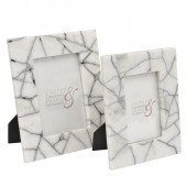 Black and White Marble 4x6 Photo Frame