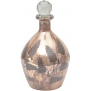 Copper Etched Glass Decanter- Large