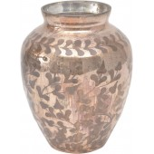 Copper Etched Glass vase