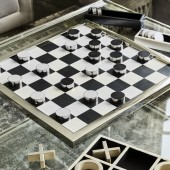 Draughts Game in A Steel Frame