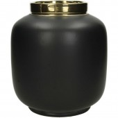 Fine Earthenware Black Vase – Round