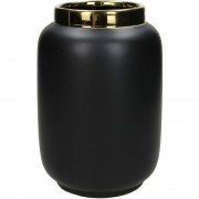 Fine Earthenware Black Vase – Tall
