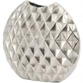 Geo Cut Aluminium Elipse Vase -  Large