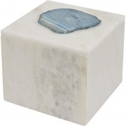 Mayfair Blue Agate Marble Decorative Square Box