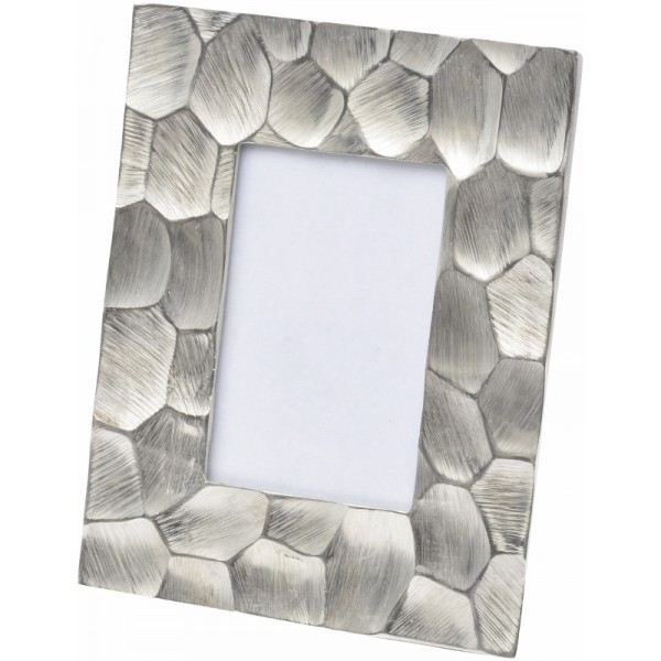 Brockley Faceted Silver Aluminium 6 x 4 Photo Frame - Small