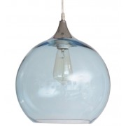 Pale Blue Glass Bubble Pendant