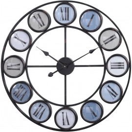 Smarty Iron Clock With Roman Numerals - Blue