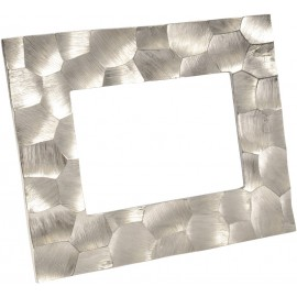 Brockley Faceted Silver Aluminium 5 x 7 Photo Frame - Large