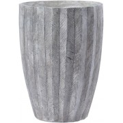 Grey Textured Resin Planter