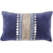 Halycon Rectangular Blue Velvet Cushion