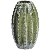 Large Green Ceramic Cactus Vase
