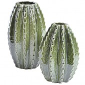 Small Green Ceramic Cactus Vase