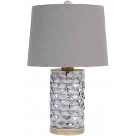 Smoke Grey Hexagon Table Lamp