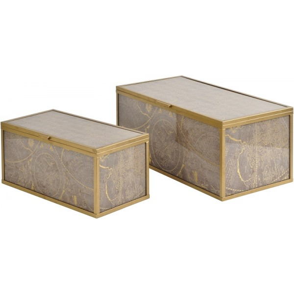 Vienna Antique Glass Atlas Boxes