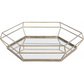 Platonic Antique Gold Tray