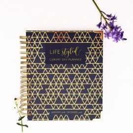 Lifestyle Planner - Gold Geo