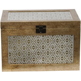 Antique Gold Diamond Trunk